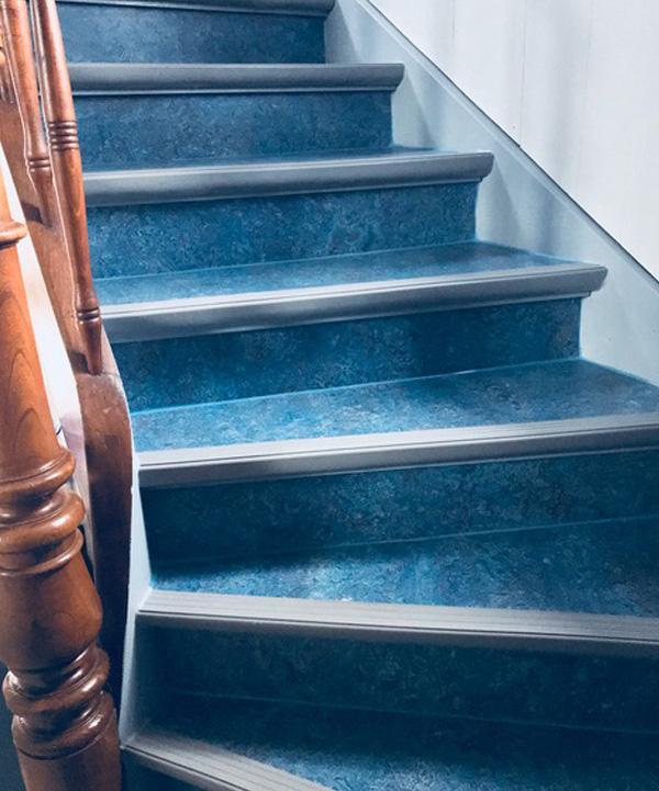 Treppenbelag Linoleum